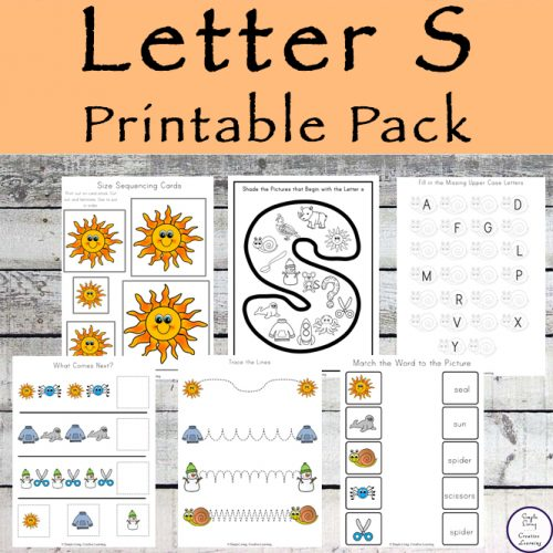 This Letter S Printable Pack is aimed for children aged 3 - 9 and contains a variety of activities; simple math concepts, literacy and hands-on activities.
