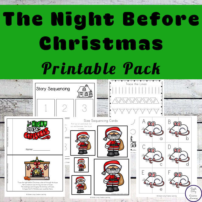 photograph relating to Twas the Night Before Christmas Printable identify Twas the Night time Ahead of Xmas Printable Pack - Uncomplicated