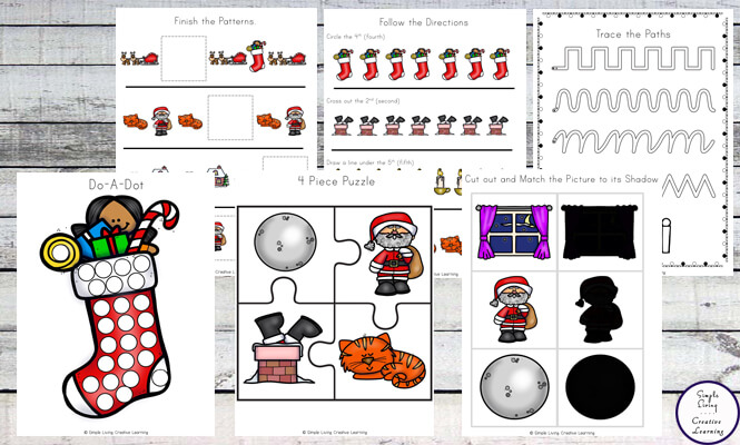 photo relating to Twas the Night Before Christmas Printable Book named Twas the Night time Right before Xmas Printable Pack - Straightforward