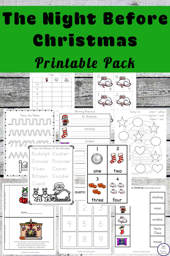 Twas The Night Before Christmas Printable Pack Simple