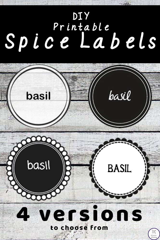 picture regarding Printable Spice Labels named Do-it-yourself Spice Labels - Very simple Dwelling. Artistic Discovering