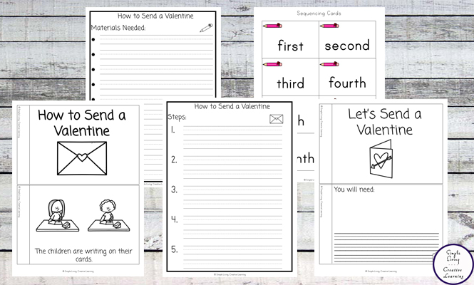 These cute How to Send a Valentine Sequencing Printables not only help young children learn how to send a Valentine, but they are also able to work on their sequencing skills too.