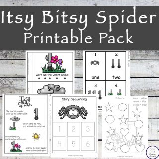 This Itsy Bitsy Spider printable pack is aimed at children in kindergarten and preschool and includes over 90 pages of fun and learning.