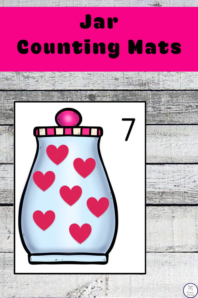Focusing on the numbers 1 - 20, these Heart  Jar Counting Mats are a fun, hands-on math activity that preschoolers and toddlers will love.