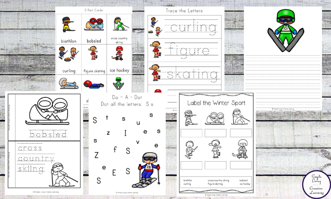 This fun Winter Games Printable Pack will help children learn more about the sports competed in during the Winter Games.