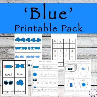Blue Printable Pack