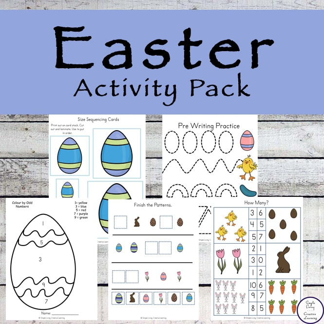 This Easter Activity Pack is aimed at children in preschool and kindergarten and is full of all the fun things kids love, while helping them practice their math and literacy skills.