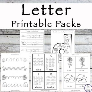 Letter of the Week {Alphabet} Printable Packs