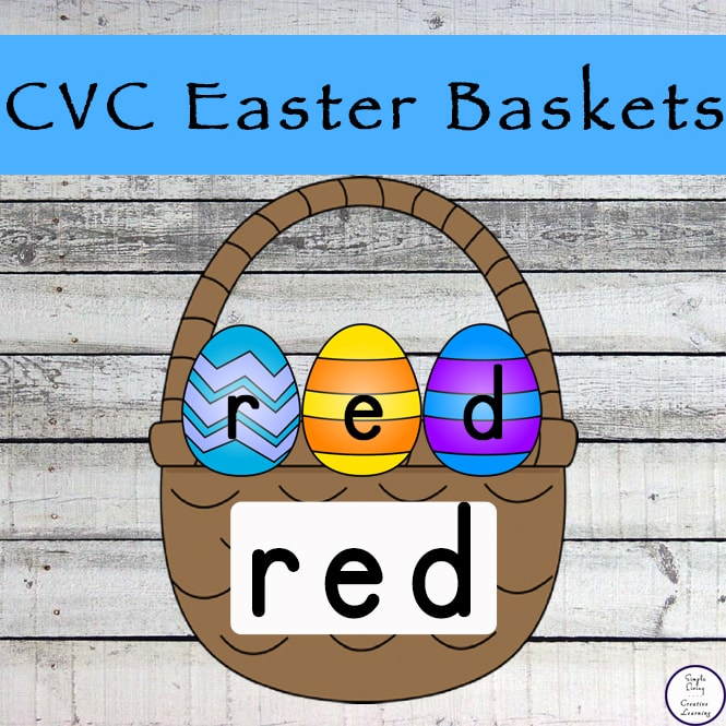 These  CVC Easter Baskets printables are a great way for children to learn and build their knowledge of CVC words.
