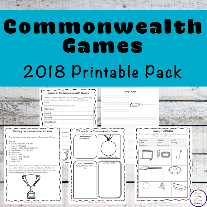 A great informative pack about the 2018 Commonwealth Games will lots of printable worksheets and activities.