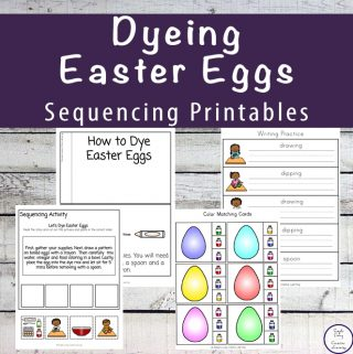 Dyeing Easter Eggs Sequencing Printable Pack
