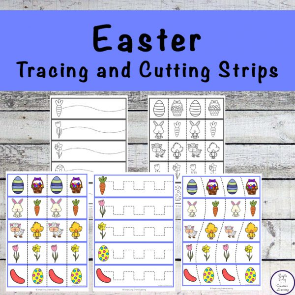 These Easter Tracing and Cutting Strips will have your child enjoying practicing their fine motor skills as well as proper scissor safety.