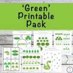 This Green Printable Pack is aimed for children aged 3 - 9 and contains a variety of activities; simple math concepts, literacy and hands-on activities with a 'green' theme.