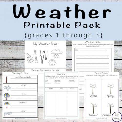 Containing over 130-pages, this unit is a great way for kids to learn about the different weather events that can occur over the course of a year.