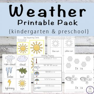 Kids in preschool and kindergarten will love learning about the different weather events with this fun 156-page Weather Printable Pack.