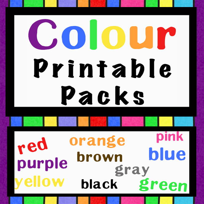 These Colour Printable Packs are aimed at children aged 3 - 9 and contain a variety of activities; simple math concepts, literacy and hands-on activities each with a colour theme.