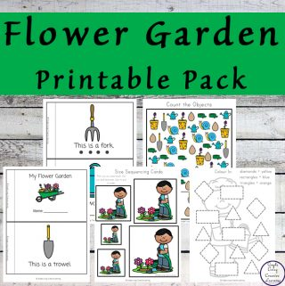 Kids aged 3 - 9 will have a great time learning about how flowers grow with this fun Flower Garden Printable Pack.