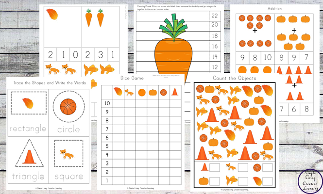 This Orange Printable Pack is aimed for children aged 3 - 9 and contains a variety of activities; simple math concepts, literacy and hands-on activities with a 'orange' theme.