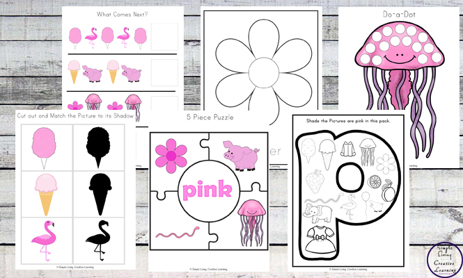 This Pink Printable Pack is aimed for children aged 3 - 9 and contains a variety of activities; simple math concepts, literacy and hands-on activities with a 'pink' theme.
