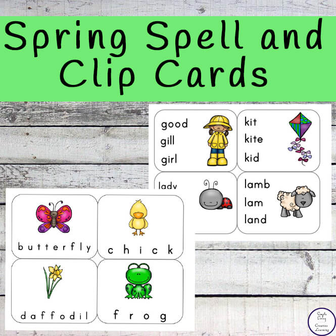 These free Printable Spring Spell and Clip Cards are so cute and great for those children who struggle with their spelling.