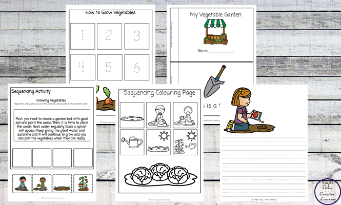 Kids aged 3 - 9 will have a great time learning about how vegetables grow with this fun Vegetable Garden Printable Pack.
