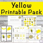 This Yellow Printable Pack is aimed for children aged 3 - 9 and contains a variety of activities; simple math concepts, literacy and hands-on activities with a 'yellow' theme.