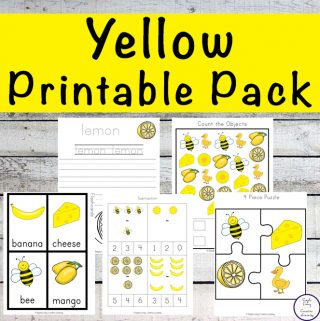 Yellow Printable Pack