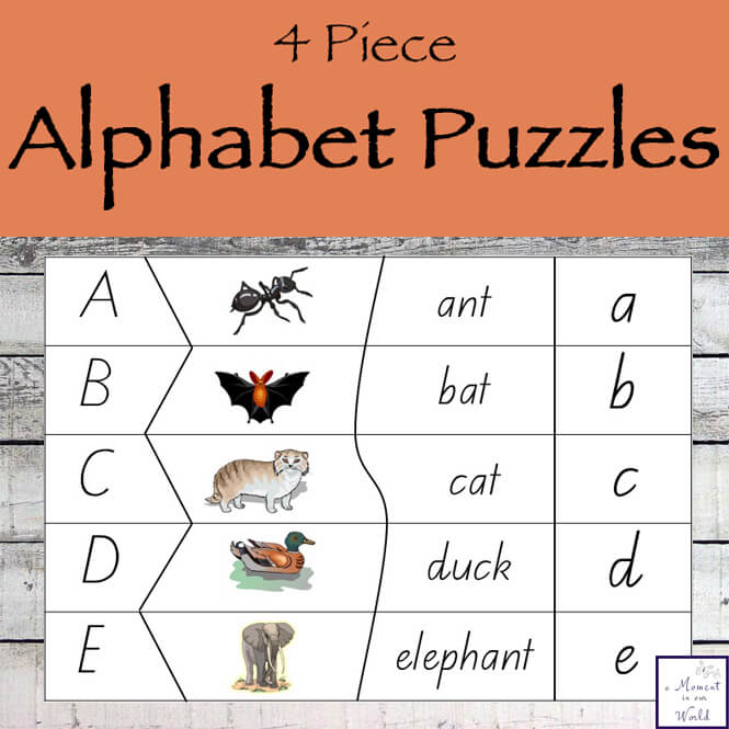 If you are looking for a way to teach your child the alphabet, then this Printable Alphabet Puzzle Pack is just what you need.