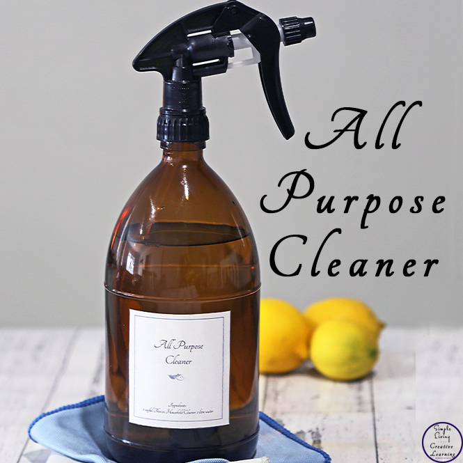 If you are looking for a more natural way to clean your home that really works, then you will love this DIY, natural, all-purpose cleaner that smells amazing.