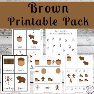 Brown Printable Pack
