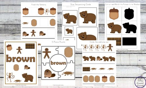 This Brown Printable Pack is aimed for children aged 3 - 9 and contains a variety of activities; simple math concepts, literacy and hands-on activities with a 'brown' theme.