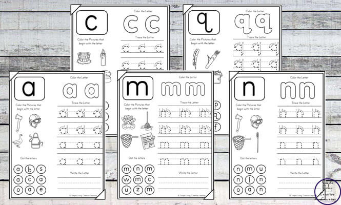 No-Prep Lowercase Alphabet Worksheets - Simple Living ...