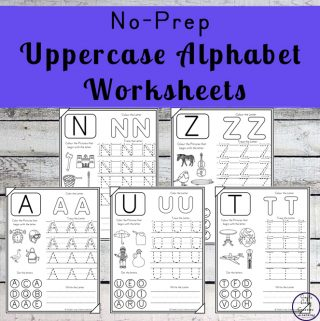 No-Prep Uppercase Alphabet Worksheets