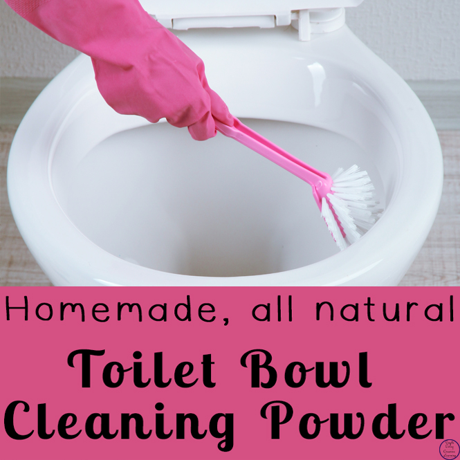 This easy to make, all natural toilet bowl cleaning powder is a great way to keep the toilet clean and smelling nice.
