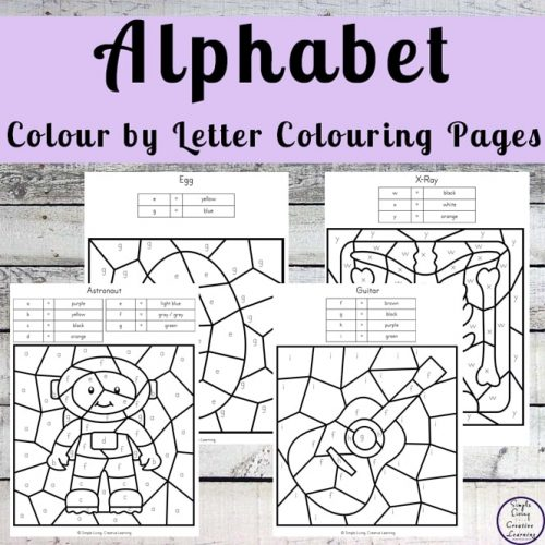 Kids love to colour in and with these fun Alphabet Colour by Letter Colouring Pages, they will also learn letter recognition and the meaning of symbols while building their colouring skills.