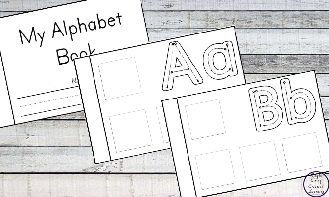 Have fun learning the letters of the alphabet with this Alphabet Cut and Paste Book.