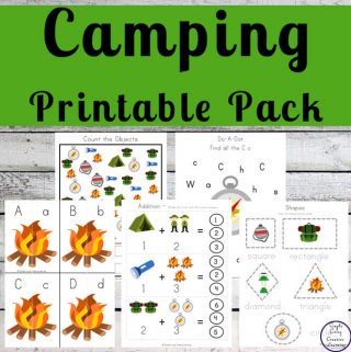 Kids love getting back to nature and discovering new plants and animals and that is why I created this fun Camping Printable Pack.