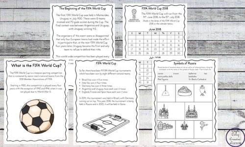 Enjoy watching the FIFA World Cup 2018 matches while learning more about this sport and Russia with the help of this FIFA World Cup 2018 Printable Pack.