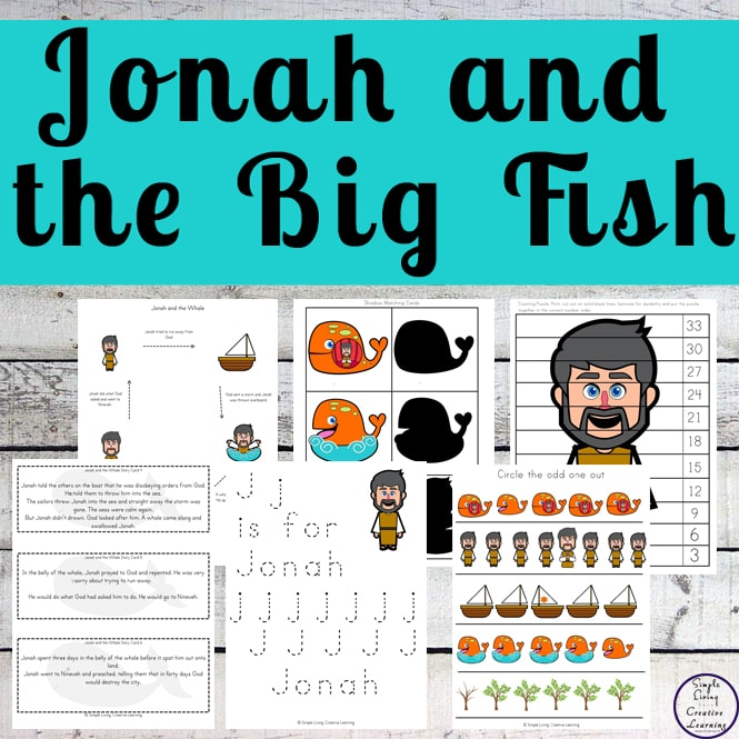 This Jonah and the Big Fish printable pack is based on the popular story, that teaches the important of obedience to God.