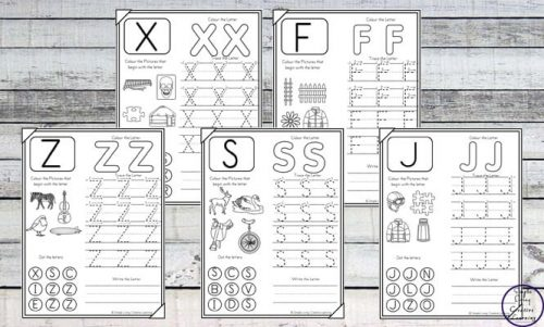 Learning all the letters can be tough for young children. These No-Prep Uppercase Alphabet Worksheets are a great way to help them to learn to recognise and write all the uppercase letters of the alphabet.
