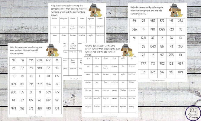 Learning the difference between odd and even numbers is fun with this Odd and Even Number Detectives printable pack.