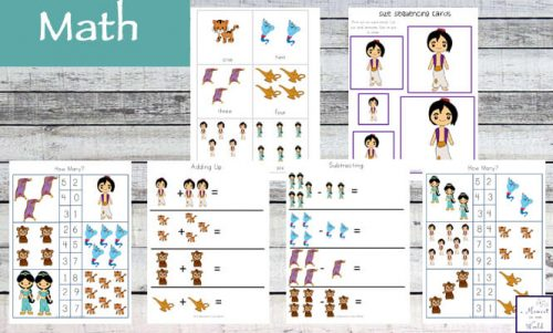 This Aladdin Printable Pack is aimed at children aged 2 - 9 and contains a variety of fun, educational activities.