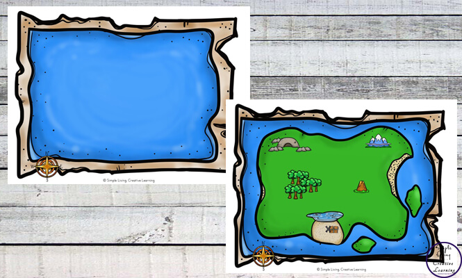 create a treasure map simple living creative learning
