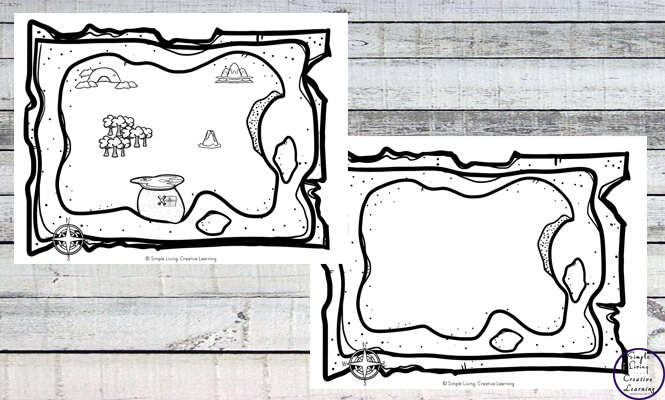 Get creative, creating your own treasure maps.