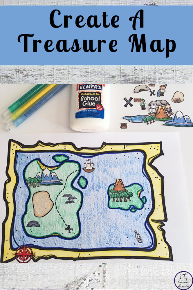 Create a Treasure Map - Simple Living. Creative Learning on cruise map, rail map, address map, eso craglorn map, ancient egyptian map, forest map, bad map, success map, alien map, blood map, ocean map, love map, monster map, money map, army map, old boston map, travel map,