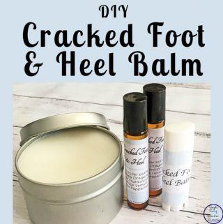 DIY Cracked Foot and Heel Balm