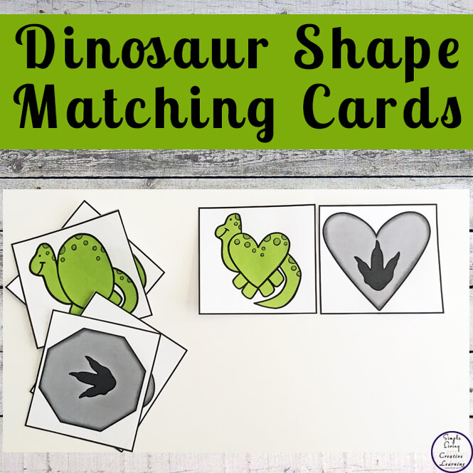 dinosaur shape matching cards