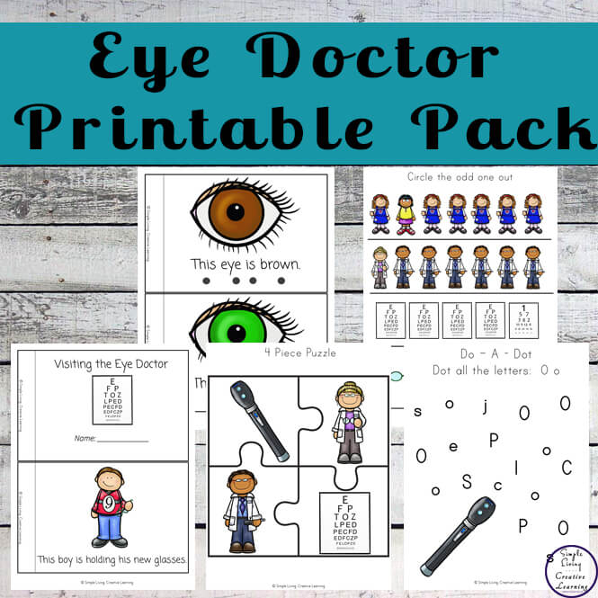 This eye doctor printable pack is great for young children, enabling them to be more confident with eye tests.