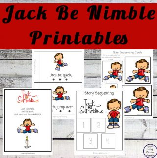 This Jack Be Nimble Printable Pack contains a variety of math and literacy activities for preschoolers and kindergarteners.