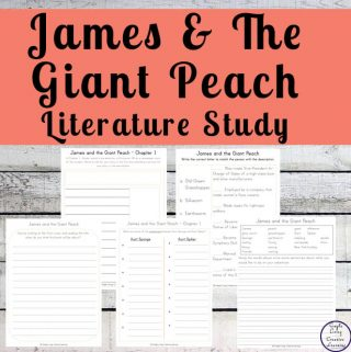 Written by Roald Dahl, James and the Giant Peach is a fun and easy to read book that children will love. To enhance learning, this James and the Giant Peach Literature Study is perfect.